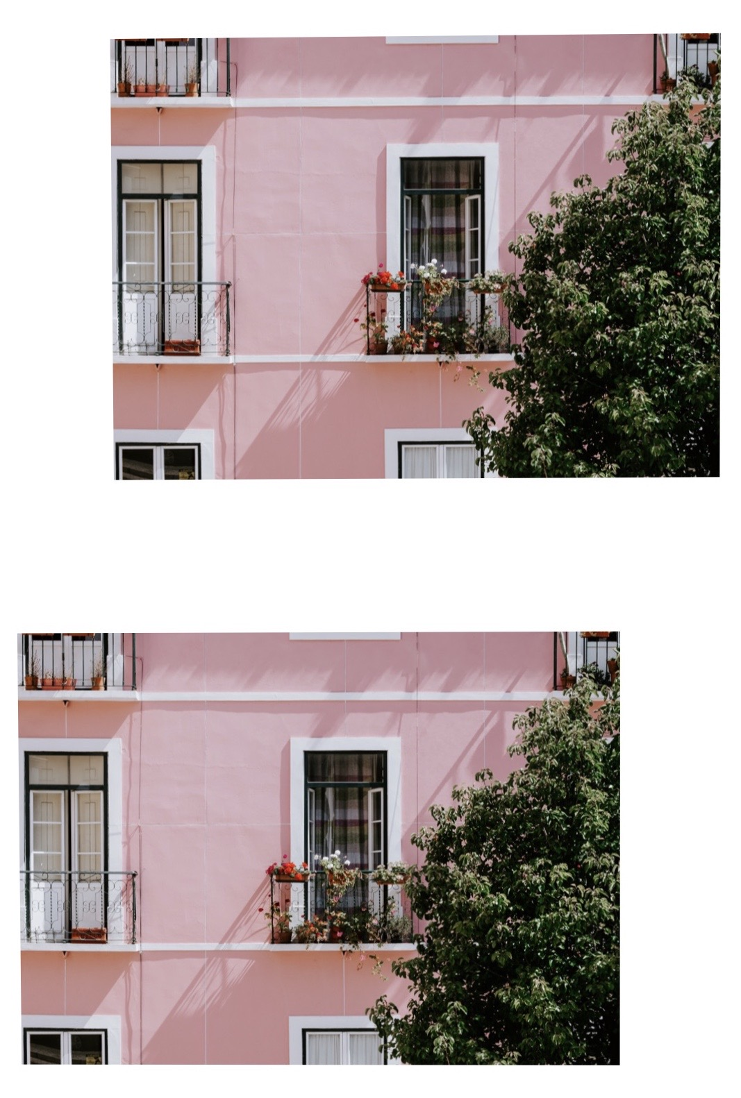 by Jessica Arends, @mydailydestinations - During a walk in Lisbon, we got lost. We walked for hours but then I saw this beautiful building with the most perfect balcony. How lovely do these flowers look?